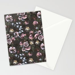 Night rose garden no1 Stationery Cards