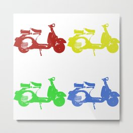 Italian scooter Metal Print