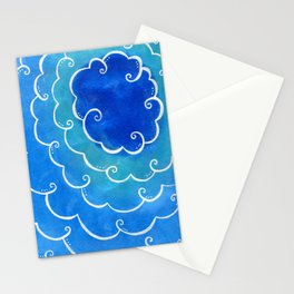 Silver linings on blue Stationery Cards