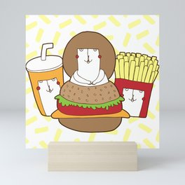 Would you like some fries with that shake? Mini Art Print
