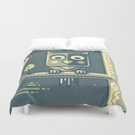 Night owl graphic design Duvet Cover