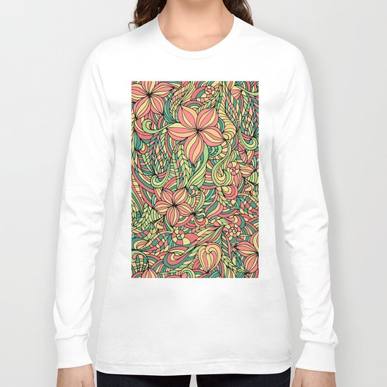 Floral delicate pattern Long Sleeve T-shirt