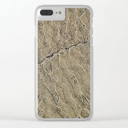 Glassy Sand Clear iPhone Case