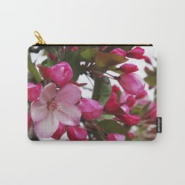 Spring blossoms - Strawberry Parfait Crabapple Carry-All Pouch