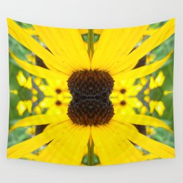 Trippy Sunflower Wall Tapestry