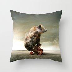 Happy Bear Throw Pillow