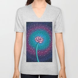 You Can and You Will - Lotus Unisex V-Neck