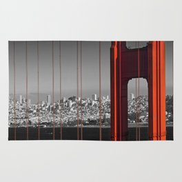 Golden Gate Bridge | Panoramic Downtown View Rug
