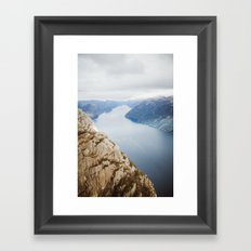 Lysefjord, Norway in Winter Framed Art Print