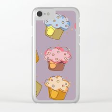 Muffins - pattern Clear iPhone Case