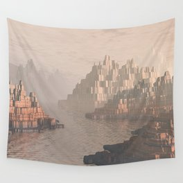 Canyon Landscape With River Wall Tapestry
