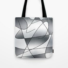 ABSTRACT CURVES #2 (Grays) Tote Bag