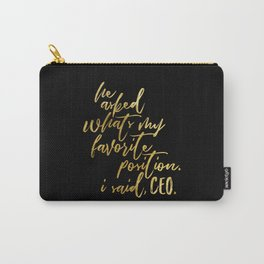 Feminist Quote Carry-All Pouch