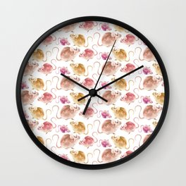 Little Mice Pattern Wall Clock