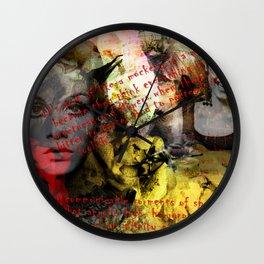 Edie ft. Twiggy Wall Clock