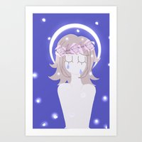 dangan ronpa Art Prints featuring Dangan Ronpa - Angel by MinawaKittten