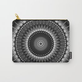 raindrops mandala bw Carry-All Pouch