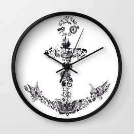 Larry's Tattoos Anchor Wall Clock