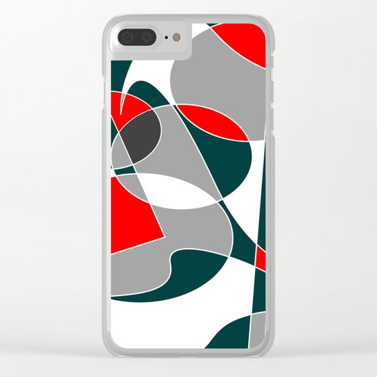 Abstract #76 Clear iPhone Case