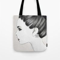 aquarius Tote Bags featuring Aquarius by Jenny Liz Rome