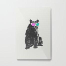 3D is Un-bear-able  Metal Print
