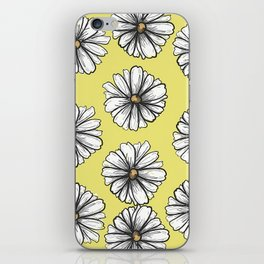 Please Don't Eat the Daisies Chartreuse iPhone Skin