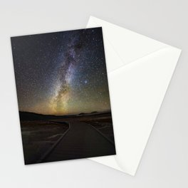 Grand Prismatic Spring Under The Milky Way Stationery Cards