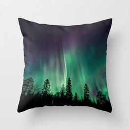 Aurora Borealis (Heavenly Northern Lights) Throw Pillow