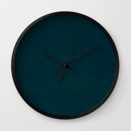 color trend petrol dark blue plain Wall Clock