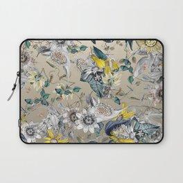 Exotic Fragrant Floral Garden in Gold Laptop Sleeve