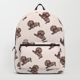Dog Pattern 2 on Girly Pink Backpack