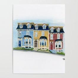 Jellybean Row - Newfoundland houses, buildings Poster