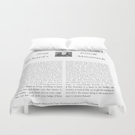 Wit & Wisdom from Poor Richard's Almanack Duvet Cover