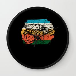Basketball Basket Vintage Wall Clock