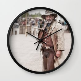 Tombstone Cowboy Wall Clock