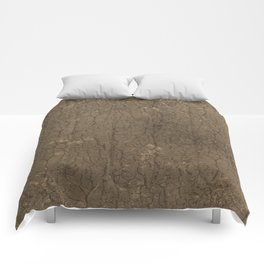 Rustic Tree Bark Pattern Comforters