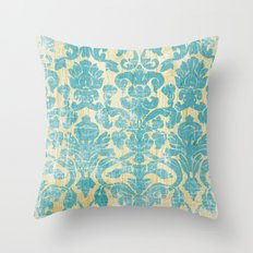 Ornate Vintage Distress Design 1 Throw Pillow
