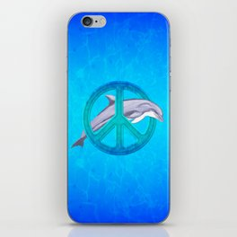 Dolphin Peace iPhone Skin