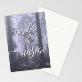 Explore the unseen mystic misty woods adventure Stationery Cards