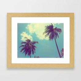 Double Palm Tree Framed Art Print
