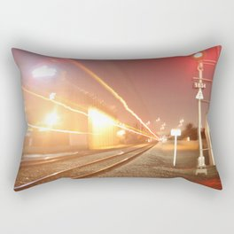 Fast moving train Rectangular Pillow