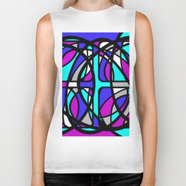 Community II - Purple and Blue Abstract Biker Tank