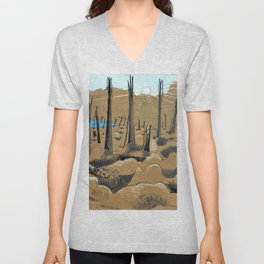 Paul Nash - Sunrise, Inverness Copse - Digital Remastered Edition Unisex V-Neck