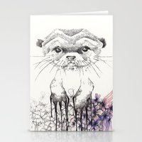otter Stationery Cards featuring Otter by RiRi.in.Berlin