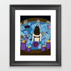 Hot Water:  Therapeutic Benefits of Soaking Framed Art Print