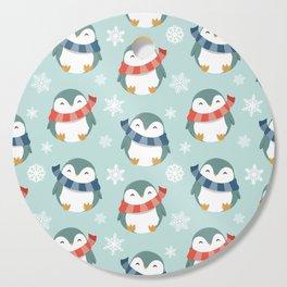 Winter penguins pattern Cutting Board