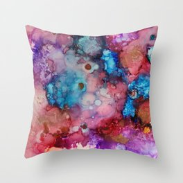 Ink colorful II Throw Pillow