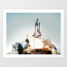 Rocket launch Art Print