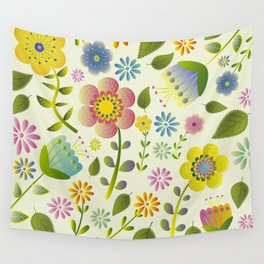 Petty Floral Pattern 2 Wall Tapestry