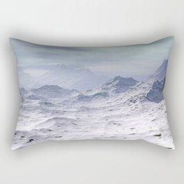Snow Covered Mountains Rectangular Pillow